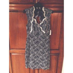 Lacy/sequin black party dress